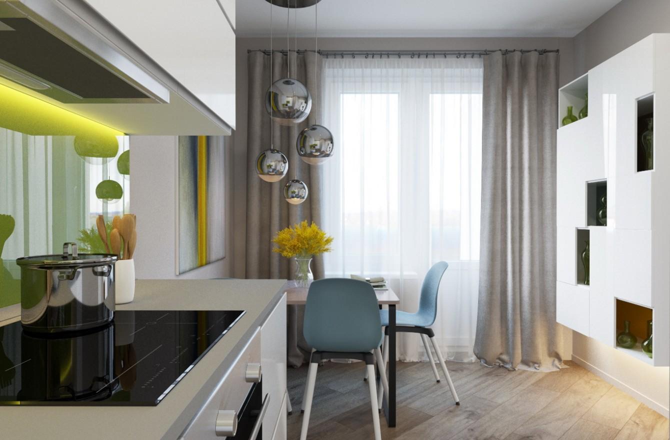 Дизайн-проект небольшой квартиры в Петербурге