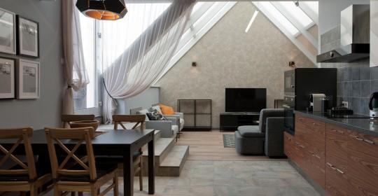 Квартира с камином и террасой
