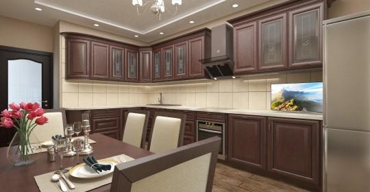 Дизайн проект трёхкомнатной квартиры на пр Турку 12
