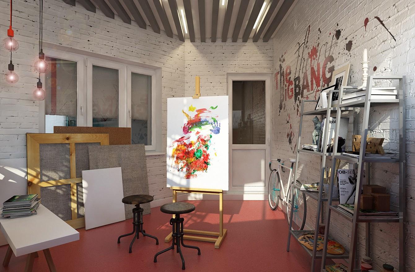 Квартира молодой художницы